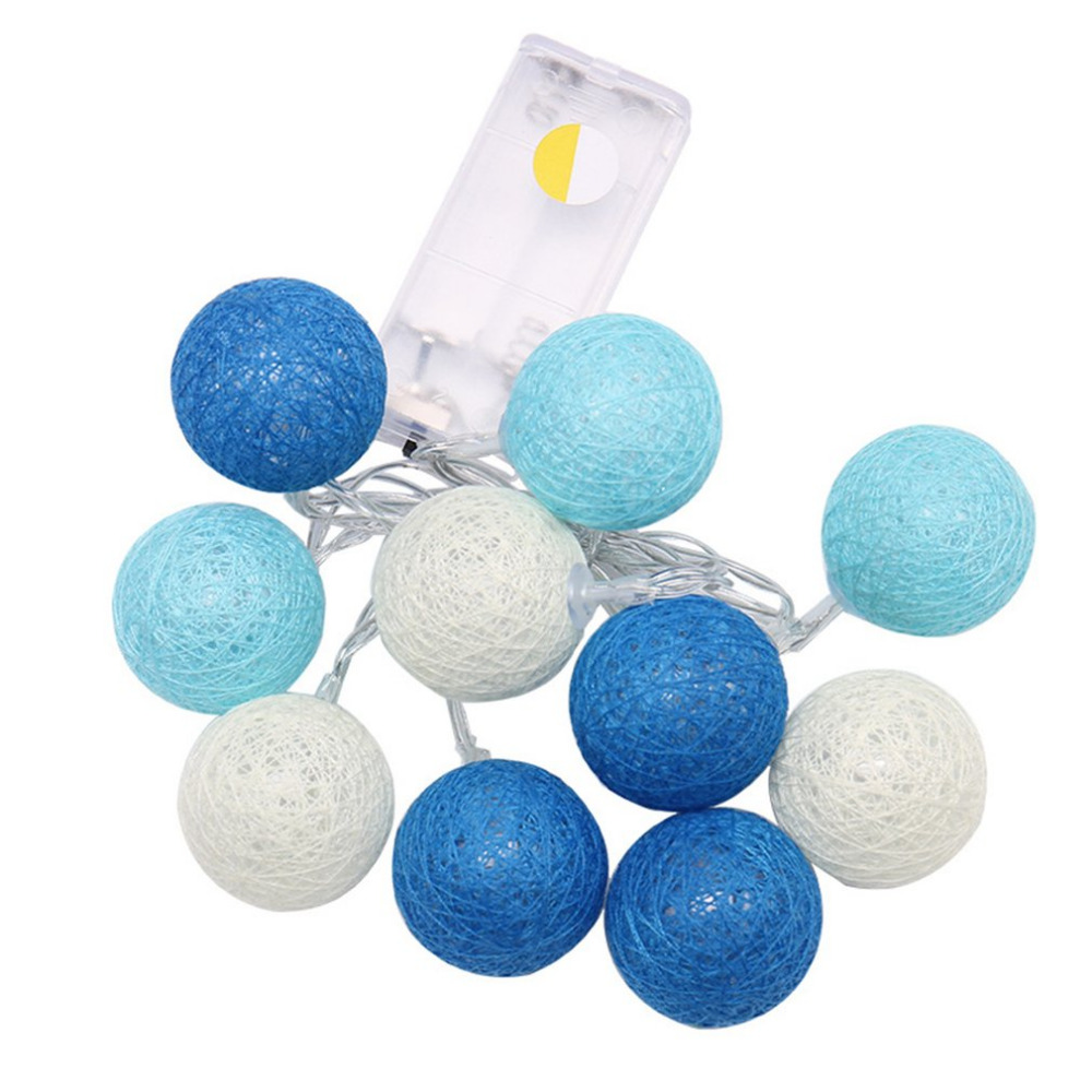 LED Ball String Lights Bettery 2.3M/1.2M 20 LEDs Cotton Wedding Party Holiday Bedroom Decorations Fairy Lamp