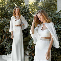 Chiffon Women Bridal Boleros Capes Wedding Formal Jackets Shawls White Plus Size