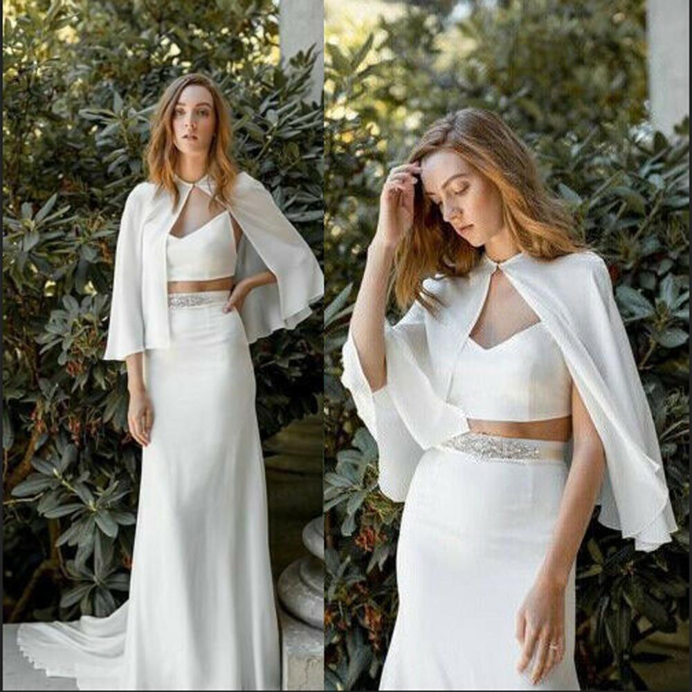 Шифоновые женские свадебные накидки, свадебные официальные пиджаки, шали, белого цвета