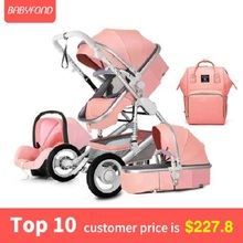 USA free ship! European luxury 4 in 1 baby stroller high landscape baby