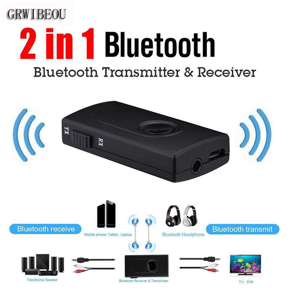 2 in1 Adapter Wireless Bluetooth Audio Transmitter Receiver RCA Music 3.5mm