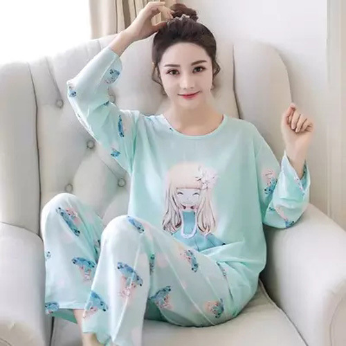 Lily Girl Pajamas Women Long Sleeve Spring And Autumn Thin New Products Sweet Princess Style Women's Home Wear Large Size Set