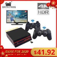 Dados sapo vídeo game console 4 k saída hdmi retro 600 clássico 64 bits família jogos de vídeo 2.4g sem fio dupla gamepad console