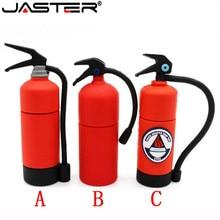 JASTER 만화 소화기 펜 드라이브 소방관 USB 플래시 디스크 메모리 스틱 U 디스크 pendrive 4GB/16GB/32GB/64GB 무료 배송