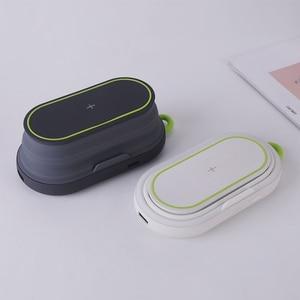 Image 3 - 10W מהיר טעינה אלחוטי מטען + 5000mAh כוח בנק + לילה אור + נייד טלפון מחזיק עבור iPhone xiaomi טלפון מטען