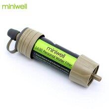 Miniwell система фильтров для воды с емкостью фильтрации 2000 литров для спорта на открытом воздухе, кемпинга, аварийный инструмент для выживания