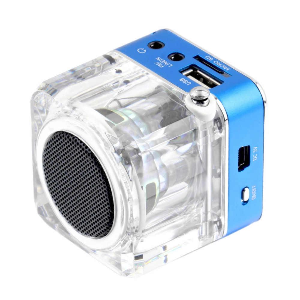 Mini haut-parleur LCD HiFi musique MP3/4 lecteur Micro SD/TF USB disque FM Radio Mini haut-parleur en gros