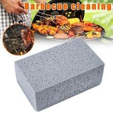 Grelhador de churrasco limpeza bloco tijolo churrasco limpeza de pedra cremalheiras manchas graxa limpador ferramentas para churrasco cozinha decora gadgets