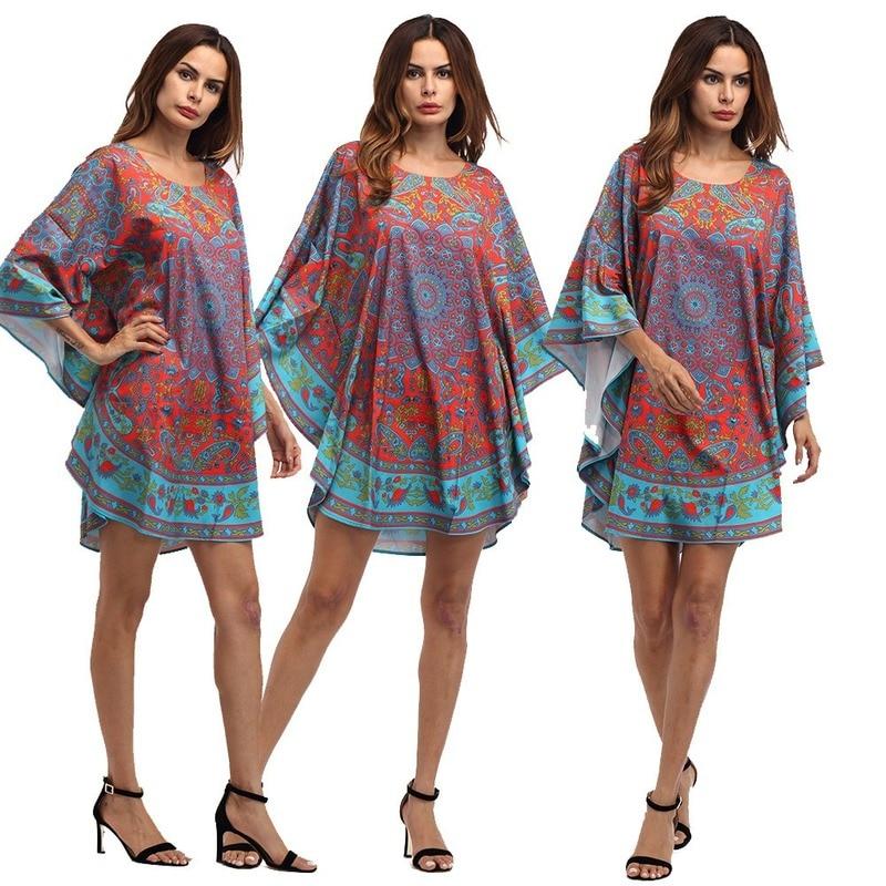 Африканские платья Bubu для женщин, большие размеры, модная свободная одежда с рукавами летучая мышь Richer Kitenge для женщин в африканском стиле, лето 2020 Африканская одежда    АлиЭкспресс