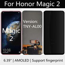 Amoled para huawei honra magia 2 TNY-AL00 display lcd substituição da tela de toque acessórios montagem para huawei honra magic2 lcd