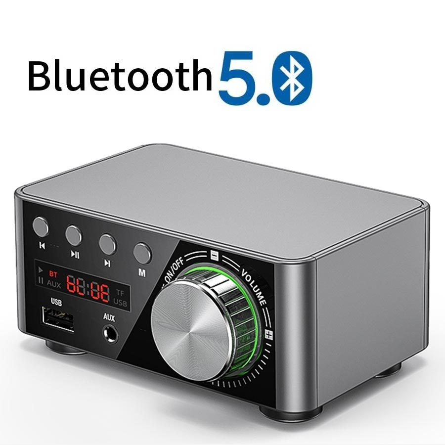 Мини аудио HiFi Bluetooth 5,0 Класс мощности D усилитель Tpa3116 цифровой усилитель 50 Вт * 2 домашний аудио автомобильный морской USB/AUX IN