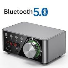Mini áudio de alta fidelidade bluetooth 5.0 classe potência d amplificador tpa3116 digital amp 50w * 2 áudio em casa carro marinho usb/aux em