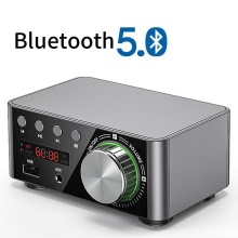 Mini Audio HiFi  Bluetooth 5.0 Power Class D Amplifier Tpa3116 Digital Amp  50W*2 Home Audio Car Marine USB/AUX IN