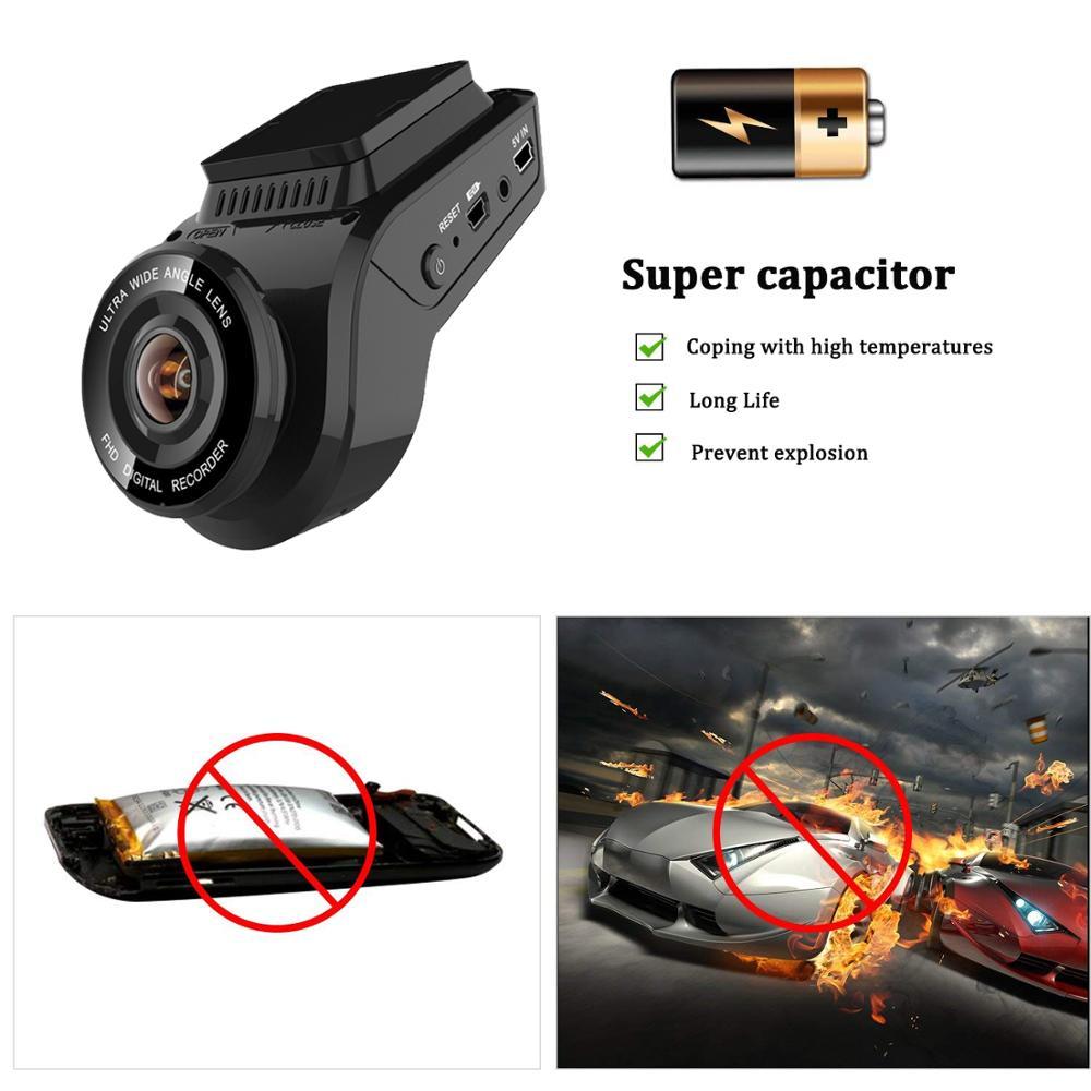 Bluavido 4K 2160P Dash cam with 1080P Rear Camera GPS logger ADAS IMAX323 sensor car Video Recorder Novatek96663 Nightvision DVR - 5