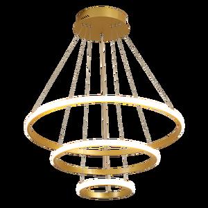 Image 5 - Lampadario Oro/caffè/Bianco Per Lliving sala Da Pranzo Cucina Camera di Figura rotonda Lampadario Apparecchi di Illuminazione di illuminazione per Interni