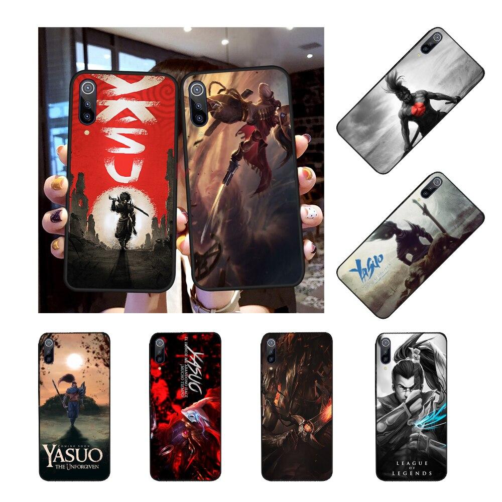 Nbdruicai LOL Mid Yasuo Hitam TPU Soft Phone Case Cover untuk Redmi Note 8 8A 7 6 6A 5 5A 4 4X 4A Pergi PRO PLUS Perdana