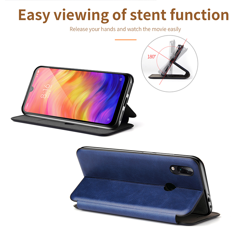 Leather Flip Magnetic Case For Xiaomi Redmi note 8t 8a 9 8 pro 9s 7 7a 5 plus a2 2