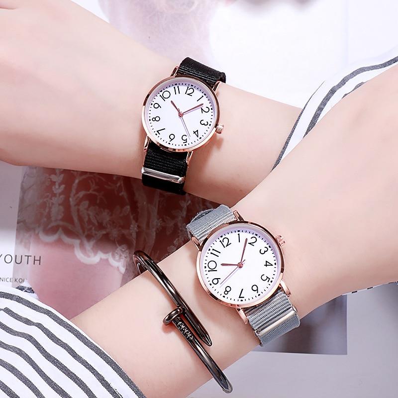 Canvas Strap Quartz WristWatch Women Gift For Girls Fashion Dress Clock Woman Watch 2019 Casual Ladies Watch Relogio Femenino