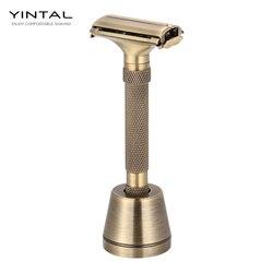 Nuevo diseño de lujosa maquinilla de afeitar mariposa abierta ajustable seguridad clásica para hombre superb afeitadora de afeitar afeitadora de barbero
