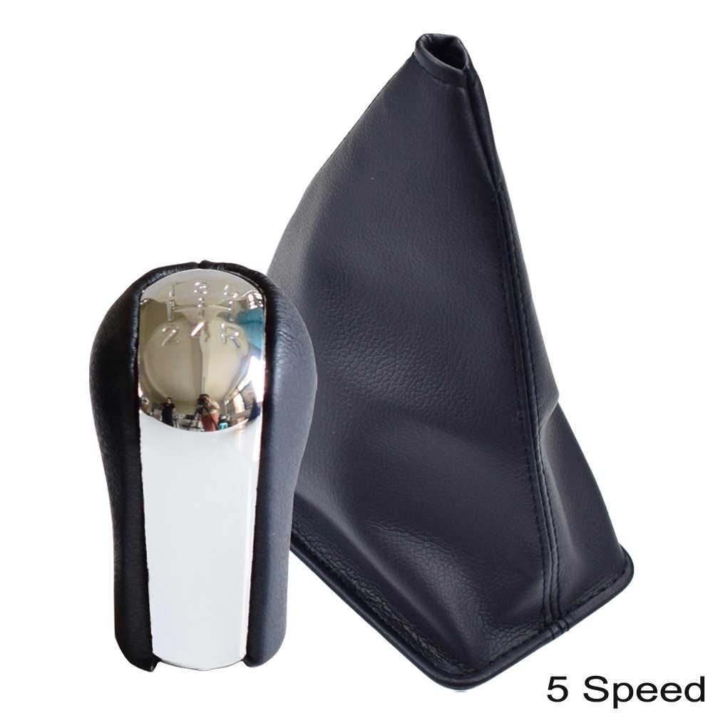 Chrome Da 5 6 Tốc Độ Bằng Tay Xe Bánh Răng Chuyển Dịch Núm Có Chống Bụi Bộ Cho Xe Toyota Corolla Aygo Verso RAV4 Yaris Vitz 1992-2014