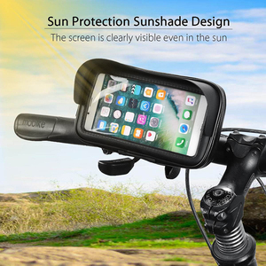 Image 5 - Waterproof Bicycle Motorcycle Mobile Phone Bag Holder Cycling rearview Handlebar Case phone Support GPS Mount For iPhone 8P XS