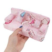 1 комплект = 3 шт. кукольный домик небольшой диван, обитый тканью с цветочным мотивом набор мебели с 2 Подушка аксессуары для куклы 20 см * 7,5 см * ...