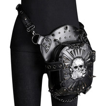 Steampunk Bag Skull Punk Retro Rock Gothic Goth Shoulder Waist Bags Leg Thigh Bag Lady Hip Hop Rivet Packs Style for Women Mens(China)