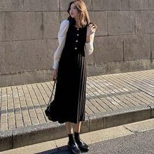 Цельнокроеное женское плиссированное платье корейские вязаные
