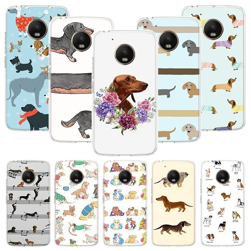 Dachshund Dog Phone Case For Motorola Moto G7 G8 G6 G5S G5 E6 E5 E4 Plus Power G4 Play X4 One Action EU Customized