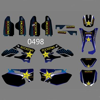 for YAMAHA WR250F WR450F 2005-2006 Full Graphics Decals Stickers Kit Custom Number Name Glossy Stickers Waterproof