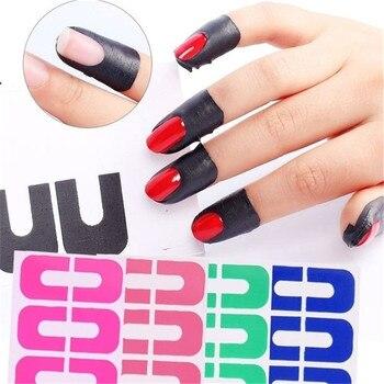 Cinta adhesiva protección antisalpicaduras de uñas creativa en forma de U pegatina de huella digital protección de la piel del dedo