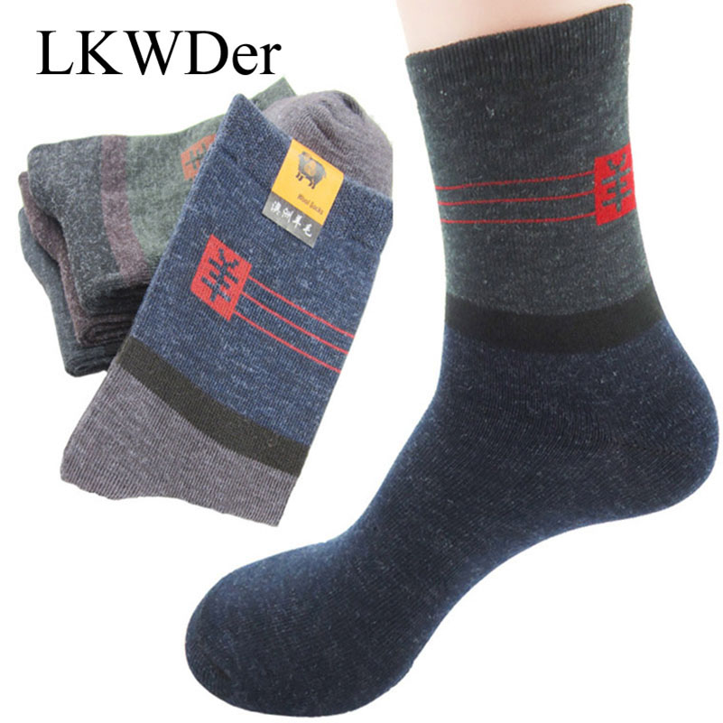 LKWDer 20pcs=10 Pairs Men's Socks Factory Price Soft Warm Wool Durable Male Sock High Quality Casual Business Socks Meias Crew