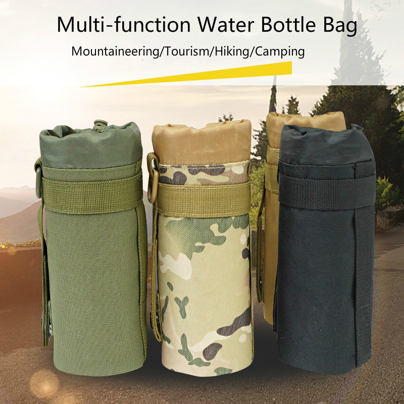 Tactical Military Water Bag Bottle Kettle Pouch Holder For Camping Bicycle RU