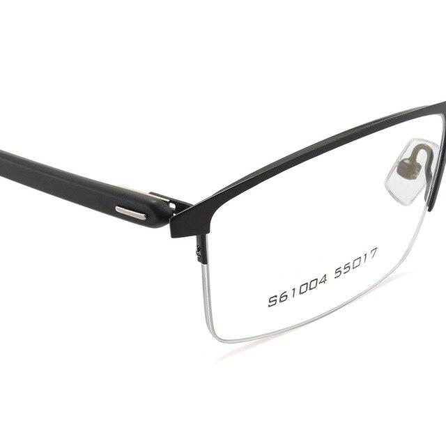 Фото мужские очки в оправе из сплава деловом стиле полуободковые цена