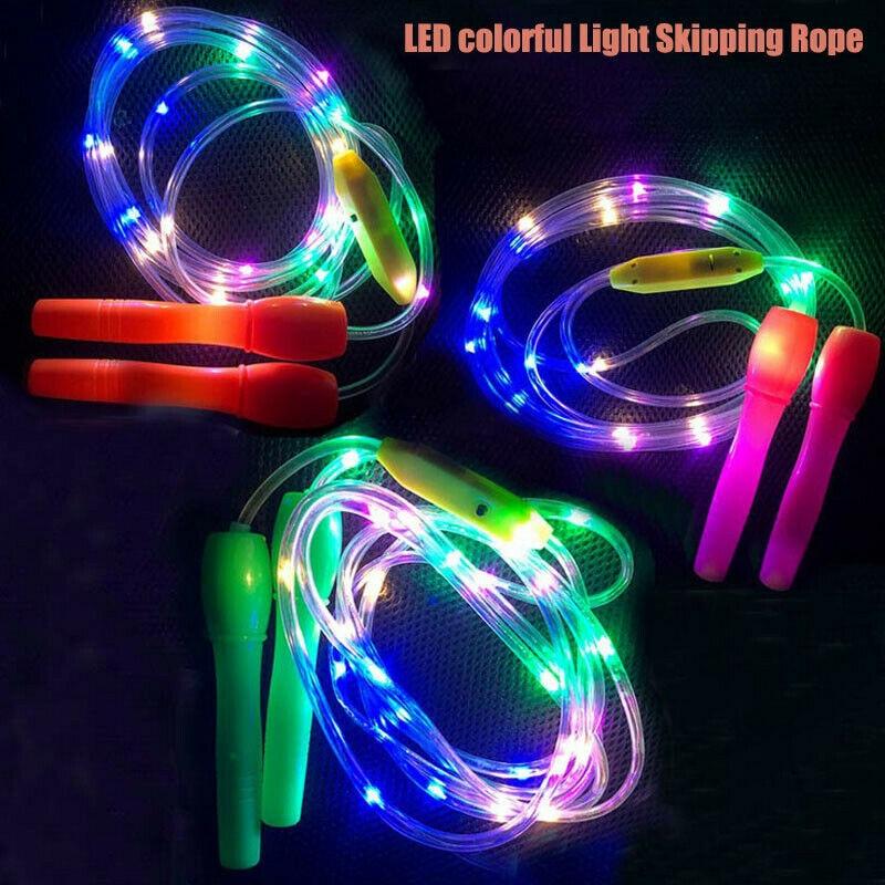 Светильник, скакалки, светодиодная скакалка, разные цвета