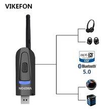 20m de longa distância bluetooth 5.0 transmissor de áudio aptx baixa latência tv pc driver livre 3.5mm aux rca usb dongle ps4 adaptador sem fio
