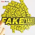 Три ratels 50 шт желтый такси логотип ПВХ водонепроницаемый окна ноутбук багажник авто автомобиля мотоцикла стикеры и наклейки