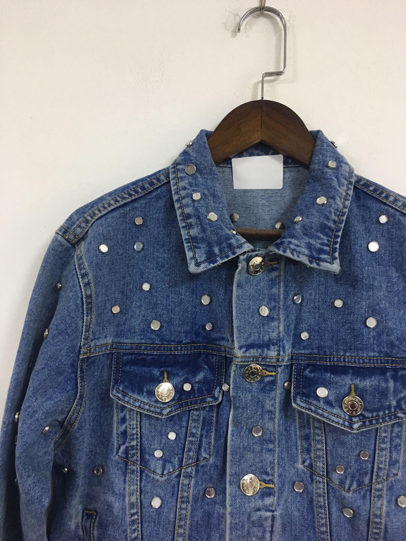 Femmes veste 2019 automne et hiver nouveau Rivet décontracté décoratif lavé Denim veste courte femmes - 5