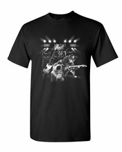 лучшая цена Cats Rock Concert T-Shirt Rock & Roll Cat Lover Kitten Music Mens Tee Shirt
