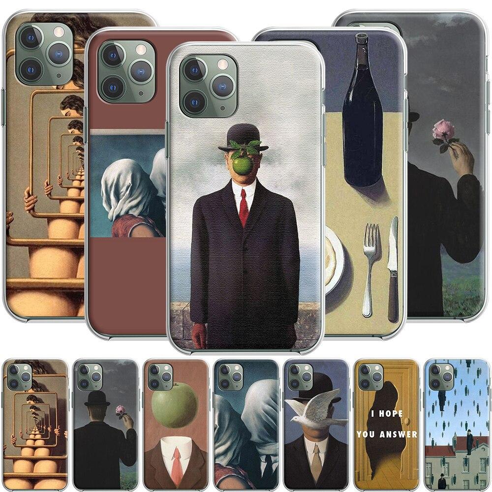 Силиконовый чехол Rene Magritte для Apple iPhone 12 Mini 11 Pro SE XS X XR Max 8 7 6S 6 Plus 5S