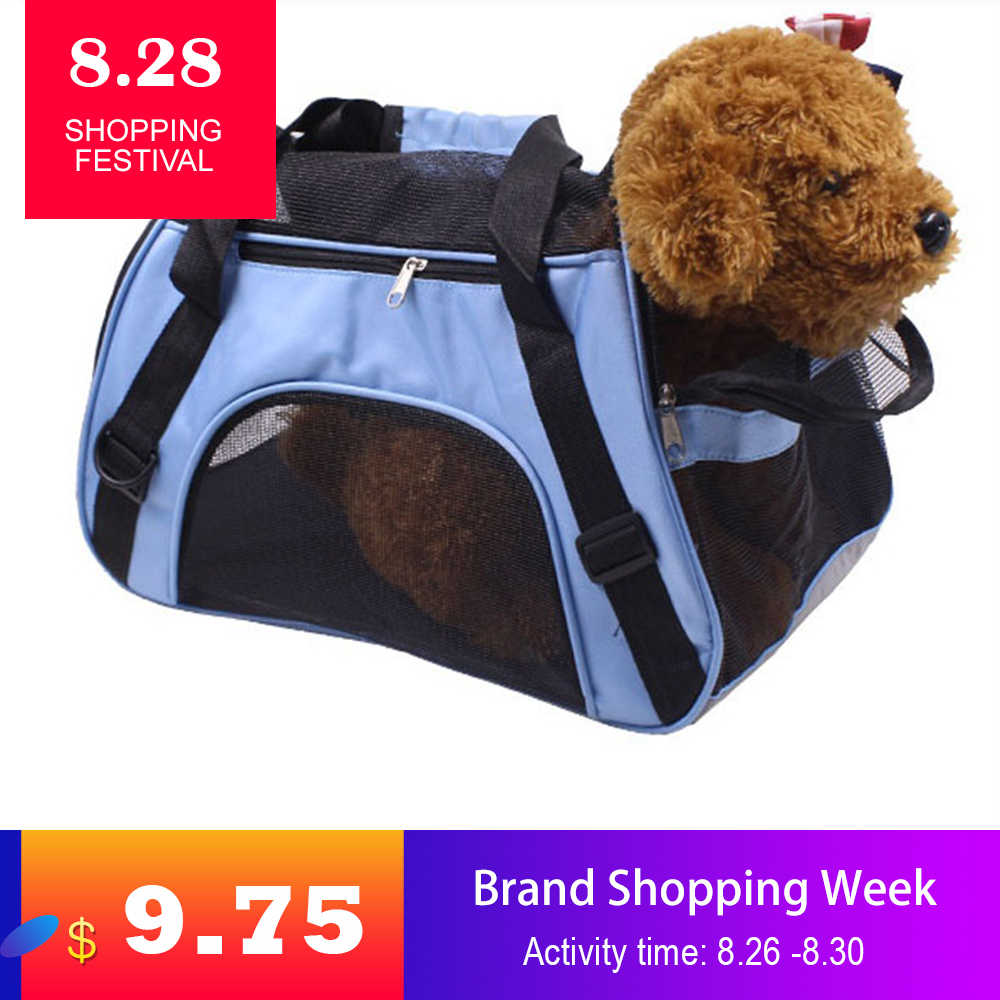 Portable Pet Bag Dog Cat Carriers Bags Pet Backpack Messenger Cat Carrier Outgoing Travel Teddy Packets Breathable Pets Handbag