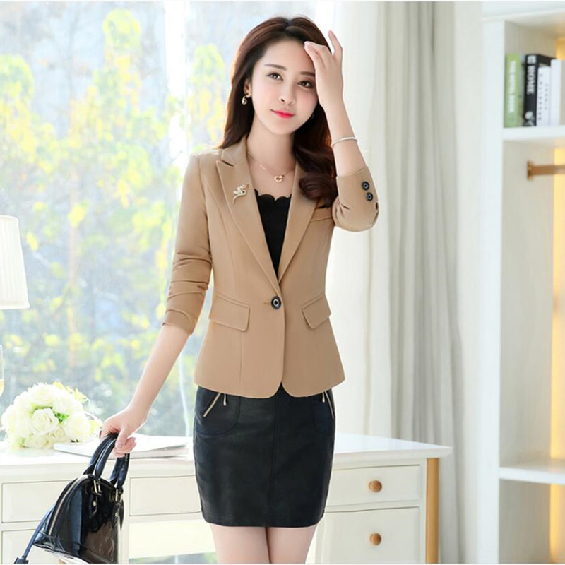 Women's Spring And Autumn Sweet Wild Temperament Suit Jacket 2019 New Loose Casual Slim One Button Long Sleeve Small Suit Jacket