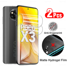 2 Pcs Matte Anti fingerprint Hydrogel Film For Xiaomi Poco X3 NFC Screen Protector On Poko X 3 Pocox3 X3nfc Not Protective Glass
