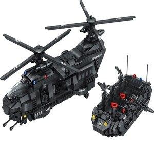 1351 шт новый тематический транспорт вертолет строительные блоки модель Средний транспорт самолет блок военные Кирпичи игрушки для детей по...