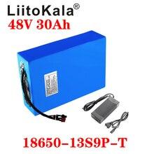 LiitoKala 48v 30ah 48 48 w 1000 v bateria de iões de lítio da bateria V 30AH 48v bateria scooter de bicicleta elétrica da bateria de celular
