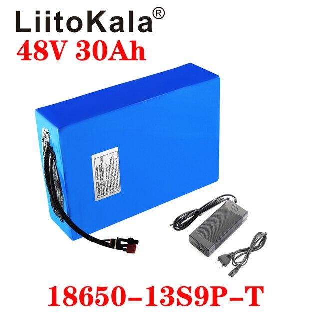 LiitoKala 48v 30ah 48v 1000w סוללה ליתיום יון 48V 30AH חשמלי אופני סוללה תא 48v קטנוע סוללה