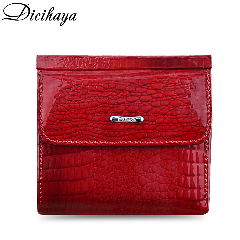 DICIHAYA Slim Genuine Leather Women Wallets Mini Wallet Short Clutch Luxury Female Purse Coin Purses Card Holder Lady's Coin Bag