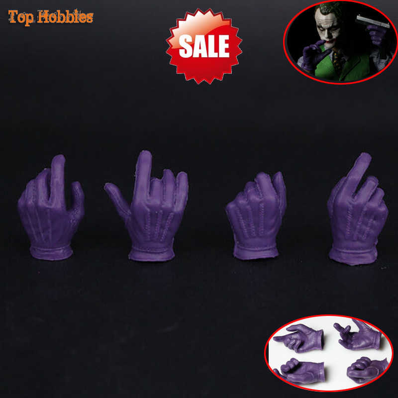 "1//6 The Joker Purple Gloves Gun Hand Types*7  For 12/"" Hot toys Phicen Figure Toy"