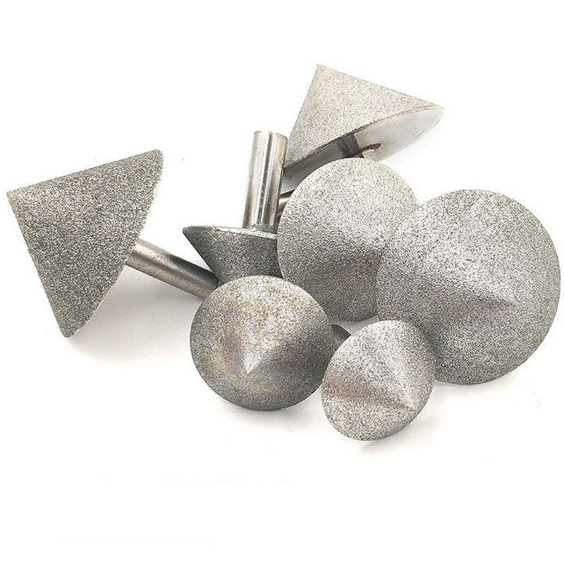 90 Dregree Electroplated Diamond Cone Chamfer Grinding Head Stone Glass Chamfering Head 20-60mm Cone