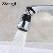 Zhangji rotativa de poupança água da torneira conector duplo modo torneira da cozinha aerador difusor bubbler filtro cabeça chuveiro bico